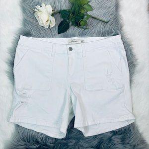 Torrid Women's sz 20 White Distressed Jean Shorts